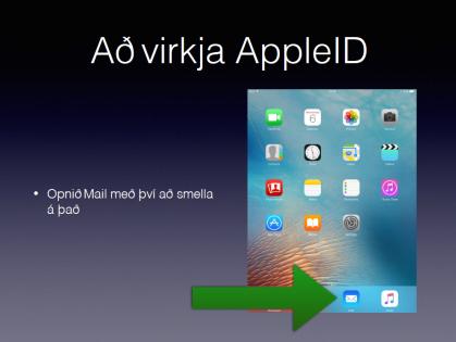 virkja apple id